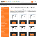 40% off: Sit Stand Desk & Bonus Monitor Arm (VESA 17''- 27''), Starting from $459.95 + Delivery @ Retail Display Direct