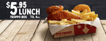 $5.95 Troppo Box (1/4 Chicken, Chips & Pineapple Fritter) @ Red Rooster (Until 4pm Daily)