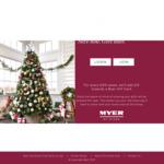 Myer Christmas Club - $20 Bonus for $200 Deposit + $10 for Every $100 Direct Debited