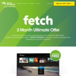 Free Fetch TV for 3 Months + $25 Delivery @ Aussie Broadband (Unlimited Plan Req.)