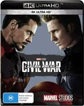Captain America: Civil War (4K Ultra HD) (OOS) and Many Other Movies $11+ Delivery ($0 with Prime/ $39 Spend) @ Amazon AU