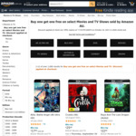 Buy One Get One Free Select DVD, Blu-Ray, 4K + Delivery ($0 with Prime/ $39 Spend) @ Amazon AU