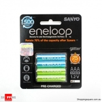 800mAh Rechargeable Sanyo Eneloop AAA Battery Pack of 4 - $9.95 + $4.95 Shipping from ShoppingSquare