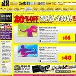 20% OFF iTunes Gift Cards @ JB Hi-Fi
