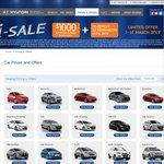Hyundai $1000 Eftpos Gift Card for All 2013 Models
