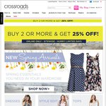 25% off 2 or More Items @ Crossroads