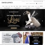 Enjoy $20 off at DAVIDJONES.com.au When You Spend $150 Use Promo Code DJ20