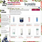 Pre-Order Selected La Prairie Skin Care at 20% OFF @ Mu Shop