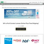 Contact Lens Offer - 30% off Plus Free Shipping with Specsavers