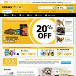 Petbarn 20% off Everything Online with Free Shipping + Additional 20% off Cat/Dog Dry Food