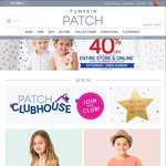 Pumpkin Patch 40% off, $20 Min Spend for Free Delivery