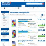 Samsung Galaxy S5 16GB Unlocked $397 Officeworks, Limited White Stock in Store but More Black