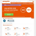 Amaysim UNLIMITED with 2GB Data for $1 (Usually $29.90) - 1st Month /New Customers Only