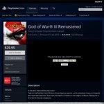 [PS4] God of War 3 (Remastered) - $29.95 (Was ~$43) @ AU PSN