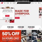 50% off New Balance Site Wide, Today Only. Delivery from $10