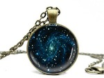 Galaxy Necklace Universe Space Pendant Charm USD $7.99 (~AUD $11) (Save $5) + Free Shipping & Jewellery Box @ This New