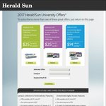 2017 Herald Sun University Offers ($25 for 40 weeks) [VIC]