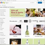 20% off Wine & Spirits @ Selected eBay Stores (Grays, Cellarmasters, WineMarket, GoodDrop + More)