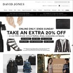 Extra 20% off Already Reduced Fashion and Beauty Items @ David Jones - Online Only