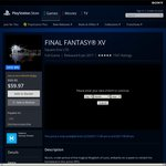 Final Fantasy XV $19.99 PS4 - PlayStation Store (PS Plus Members)