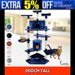 200cm Giant Cat Tree $47.45 [Beige/Brown/Black] Pick-up Sydney @ DeluxeProducts eBay