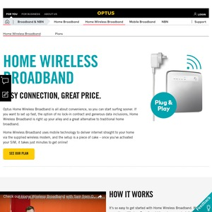Optus 200GB Wireless Broadband (up to 12/1mbps) - $60/Month