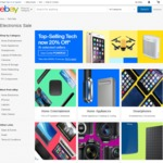 20% off 62 Selected Tech Retailers @ eBay