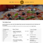 15% off for Online Orders on Golden Crust Pizza (Available at Quakers Hills NSW) [$10 Minimum Spend]