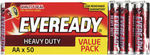 Eveready AA 50 Heavy Duty Batteries $9.56 Pick up or + $5.06 Delivery @ The Good Guys eBay
