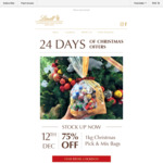 75% off 1kg Christmas Pick and Mix Bag $24.95 @ Lindt Chocolate Cafes and Shop