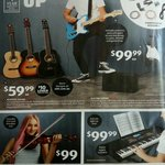 Acoustic Guitar $59.99, Violin $99, Brass $149, Electronic Drum Kit $269 + More @ ALDI (Starts 7/2)
