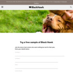 Free Pet Food Sample @ Black Hawk