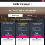$1 for Online Access and Weekend Delivery of The Daily Telegraph (NSW) for 4 Weeks + Extras Including Big League Digital Sub