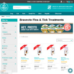 Bravecto Flea and Tick Treatment from $33 (Very Small Dog) to $41.80 (Very Large Dog) from Pet Circle