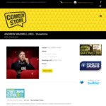 [NSW] 2 for 1 Tickets for Andrew Maxwell (IRE) SHOWTIME @ Comedy Store - $16.50 each
