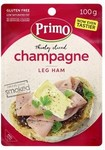 Primo Champagne Ham or English Sliced Ham 100g $0.30 (Was $3) & Smokeman Bros Ham 100g $0.50 (Was $5) @ Coles (Spend $50 C&C)