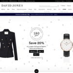 David Jones - 20% off Select Full Priced Items (E.g. RM Williams Boots: $436 or $392 with 10% off e-Gift Cards)