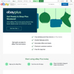 "eBay Plus - Unlimited Deliveries & Returns on ""Plus"" Items for $49 Annual Fee (Free 30 Day Trial / Discounted $29 for 1st Year)"