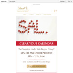 50% off Lindor Products @ Lindt Chocolate Shop