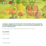 Free Vital All-in-One Daily Supplement Sample