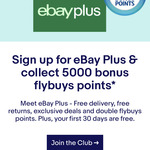 5000 Bonus Flybuys for Joining eBay Plus [New Members]