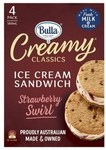 ½ Price: Bulla Creamy Classic Sandwiches 4 Pack $4 @ Coles
