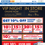 VIP Night: 10% off Ticketed Prices @ The Good Guys