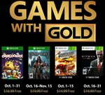 Xbox Gold October 2018 - Overcooked, Hitman Blood Money | October Game Pass - Forza Horizon 4, Wolfenstein: The New Order