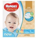 Huggies Ultimate Nappies $22 + Delivery (Free C&C) @ Baby Bunting