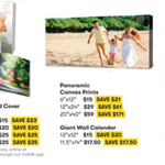 """20x 40"""" (50x100cm) Panoramic Canvas Print $59 (Was $230) Free Delivery Instore @ Big W Photos"""