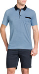 100% Cotton Sky Contrast Collar Polo Men's $6.99 (Was $59.99) + Free C&C @ Tarocash