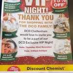[VIC] 15% off Storewide 22 Nov 3pm-8pm @ Direct Chemist Outlet (Cheltenham VIC)