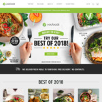 $15 off or 15% off or 3 Free Snacks ($49 Min Spend) @ Youfoodz