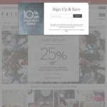 Pottery Barn / Pottern Barn Kids - 25% off Everything (Including Sale Items)